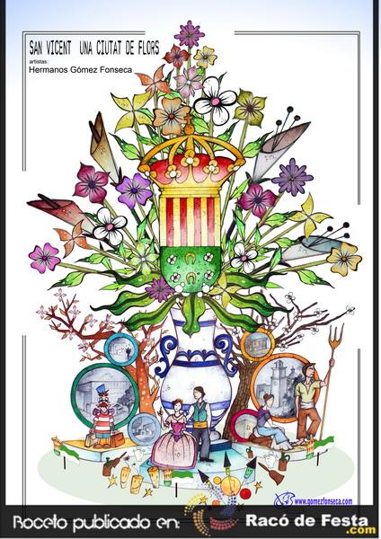 Boceto oficial San vicente 2013